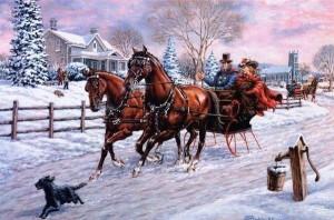Victorian sleigh trimmed